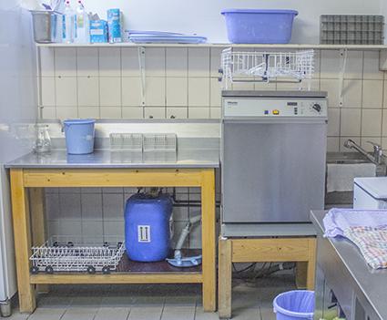 """Von 2005 bis 2017 war die """"alte"""" Spülküche im Café Jerusalem in Betrieb."""