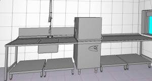 So wird sie die neue Spülküche aussehen