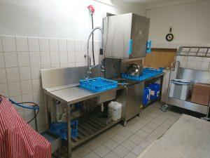 Neue Spülküche des Café Jerusalem