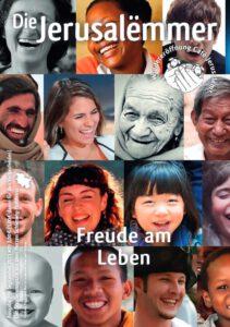 Titelseite Jerusalemmer 208, September 2021, Thema: Freude am Leben